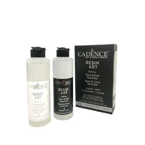 Cadence - Cadence Resin Art - Şeffaf Epoksi Reçine Kit 250+250 ML